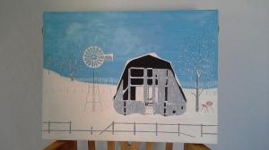 Barn in Winter (1980)