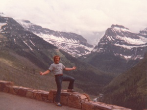 Mark in Glacier National Park #1 (1978) - Mark D. Jones