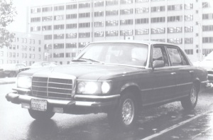 Mercedes-Benz in the Seattle Rain (1979) by Mark D. Jones