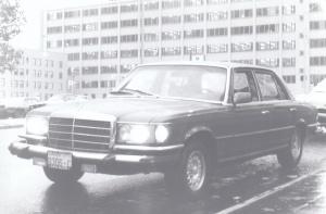 Mercedes-Benz in the Seattle Rain (1979) by Mark D. Jones
