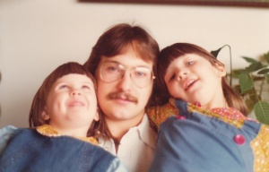 Me with my girlfriend's daughters in Seattle, WA (1978) - Mark D. Jones