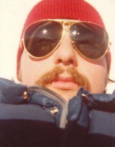 Mark (r) hiking at the base of Mt. Rainier, WA #2 (1978) - Mark D. Jones