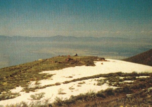 Mark sitting while overlooking the Great Salt Lake Basin, UT (May 31, 1977) - Mark D. Jones