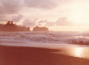 Olympic Peninsula Sunset #5 (1977) by Mark D. Jones