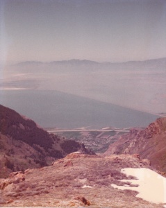 Great Salt Lake Vista (1977) (Damaged Photo) by Mark D. Jones