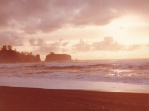 Olympic Peninsula Sunset #7 (1977) by Mark D. Jones