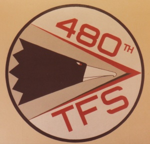 480th TFS 'Warhawks' Squadron Patch #1 (1985)