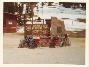 Mark resting on Berthoud Pass, CO #1 (May 23, 1977) - Mark D. Jones