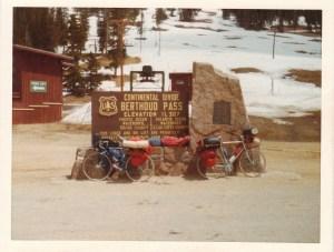 Mark resting on Berthoud Pass, CO #1 (May 23, 1977) - Mark D. Jones