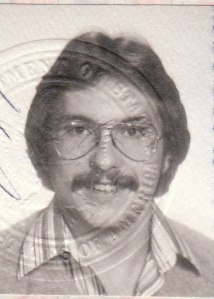 Mark's actual scanned passport photo I traveled on to London, U.K. (1979) - Mark D. Jones