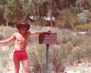 Mark at Phantom Ranch at the bottom of the Grand Canyon (1978) - Mark D. Jones