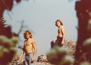 Bruce (l) and Mark (r) on Hurricane Ridge, Olympic National Park, WA (Summer 1977) - Mark D. Jones