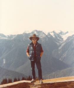 Mark at the Hurricane Ridge Visitors' Center, Olympic National Park (1978) - Mark D. Jones