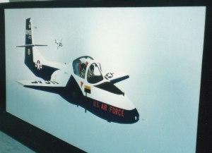 455th FTS T-37 'Tweet' Mural #5 (1988)