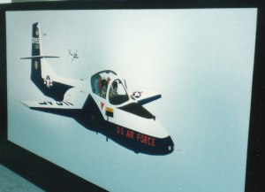 455th FTS T-37 'Tweet' Mural #5 (1988)