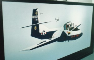 455th FTS T-37 'Tweet' Mural #4 (1988)