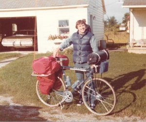 Mark at the start of our 8,000 Mile U.S. Bicycle Adventure (September 22, 1976) - Mark D. Jones