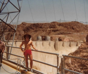 Mark at the Hoover Dam #1 (1978) - Mark D. Jones
