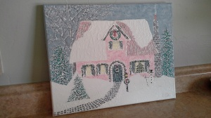 'Christmas Cottage' #2 by Mark D. Jones