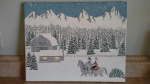 'Montana Christmas' (2015) by Mark D. Jones
