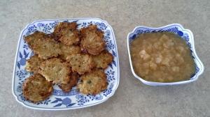 Potato Pancakes with Applesauce