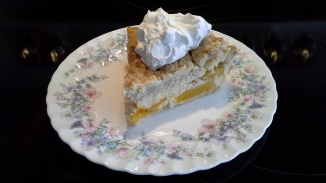 Custard Peach Pie