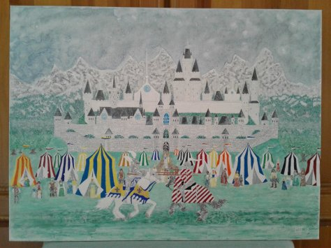 """'A Medieval Fair' (18"""" x 24"""") 2017 - (Copyright 2017, Mark D. Jones, All Rights Reserved)"""