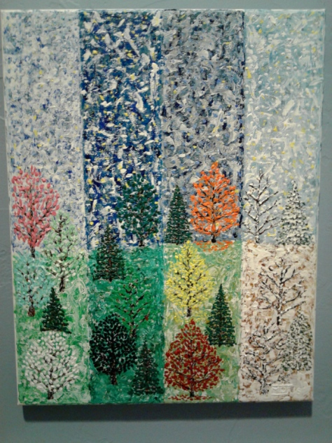 """'Four Seasons' (11"""" x 14"""") 2016 - (Copyright 2016, Mark D. Jones, All Rights Reserved)"""