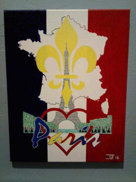 "'Paris' (11"" x 14"") - (Copyright 2016, Mark D. Jones, All Rights Reserved)"