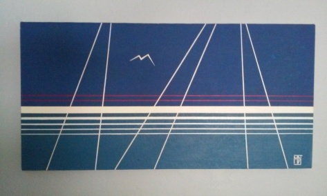 "'Sailing #1' (18"" x 36"") 1979 - (Copyright 1979, Mark D. Jones, All Rights Reserved)"