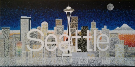 """'Seattle' (18"""" x 36"""") 2015 - (Copyright 2015, Mark D. Jones, All Rights Reserved)"""