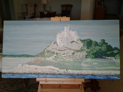 """'St. Michael's Mount' (18"""" x 36"""") 2017 - (Copyright 2017, Mark D. Jones, All Rights Reserved)"""