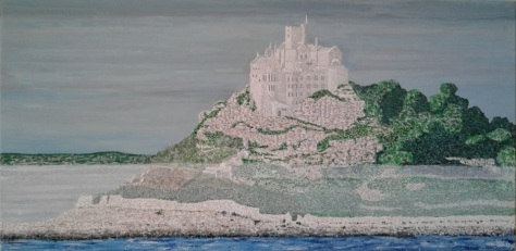 "'St. Michael's Mount' (18"" x 36"") 2017 - (Copyright 2017, Mark D. Jones, All Rights Reserved)"