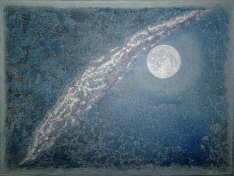 "'Windowpane Moonlight' (18"" x 24"") 2017 - (Copyright 2017, Mark D. Jones, All Rights Reserved)"