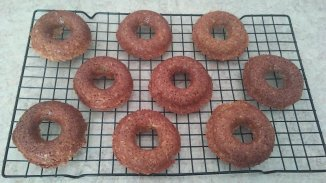 Baked Sour Cream Oat Flour Donuts